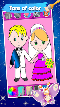 Bride And Groom Wedding Coloring Pages Game pc screenshot 2