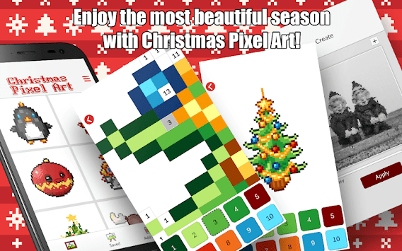 Christmas Color by Number – Merry Xmas Pixel Art pc screenshot 1
