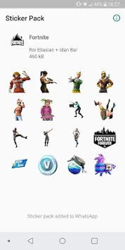 WAStickerApps - Fortnite Stickers pc screenshot 1