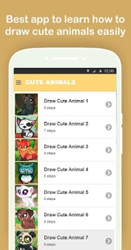 How to Draw Cute Animals Easy Step by Step pc screenshot 1