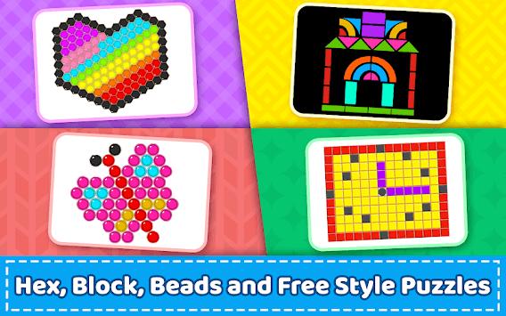 Mosaic Puzzles Art Game - Block Beads & Hex Puzzle pc screenshot 2