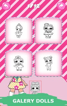 Dolls Coloring Book pc screenshot 1