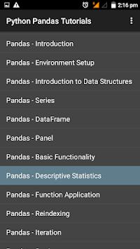 Python Pandas Tutorial pc screenshot 1