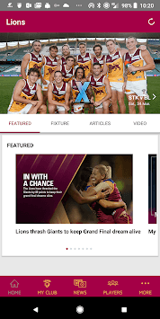 Brisbane Lions Official App pc screenshot 1