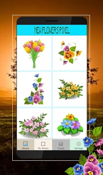 Pixel Art Flowers Color By Number pc screenshot 1