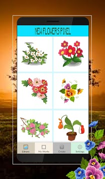 Pixel Art Flowers Color By Number pc screenshot 2