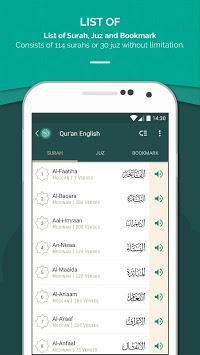 Quran English pc screenshot 1