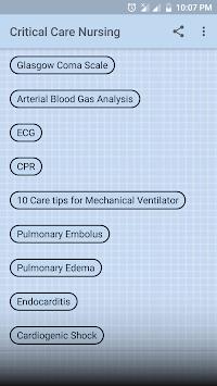 Critical Care and Emergency Nursing pc screenshot 1