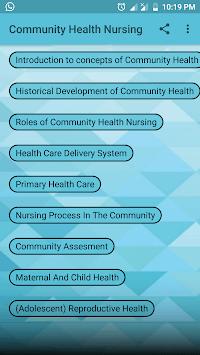 Community Health Nursing pc screenshot 1