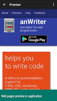 anWriter free HTML editor pc screenshot 1