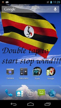 3D Uganda Flag Live Wallpaper pc screenshot 1