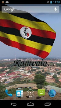 3D Uganda Flag Live Wallpaper pc screenshot 2
