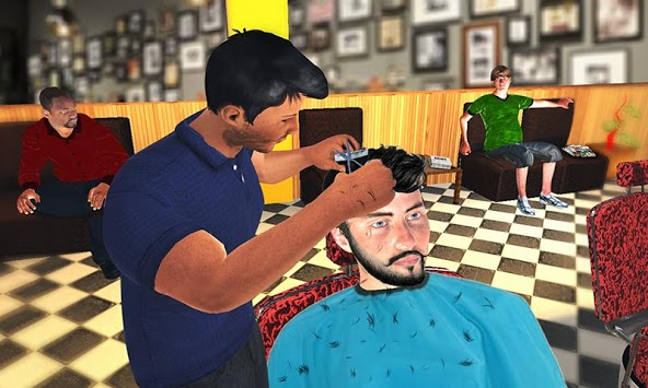 Barber Shop Hair Salon Cut Hair Cutting Games 3D pc screenshot 1