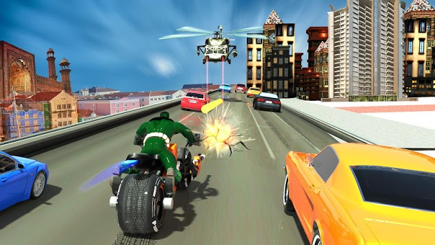 Bike Shooter Superhero: Moto Blitz Racing Shooter pc screenshot 1