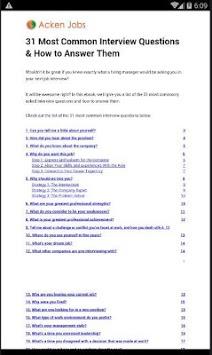 Job Interview Questions pc screenshot 1