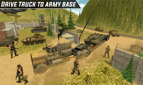 Army Truck Tank Transport-Impossible Mission Drive pc screenshot 1