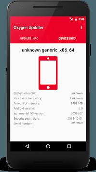 Oxygen Updater pc screenshot 1