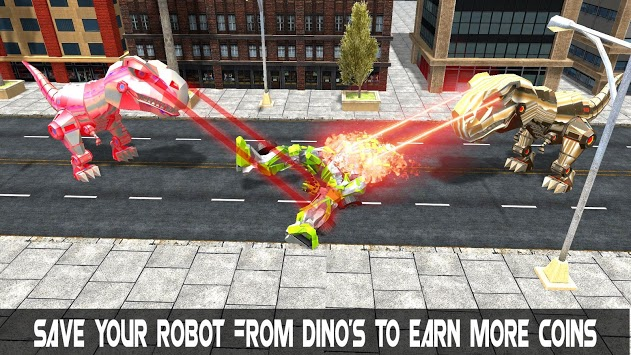 Dinosaur Robot Transform: Car Robot Transport Sim pc screenshot 2