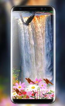 Waterfall Flower live Wallpaper 2018: 3D Aquarium pc screenshot 1