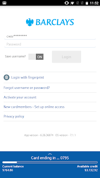 Barclays US for Android pc screenshot 1