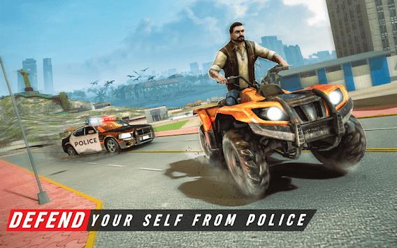 Gangster City Grand ATV Bike Crime - Quad Driving pc screenshot 1