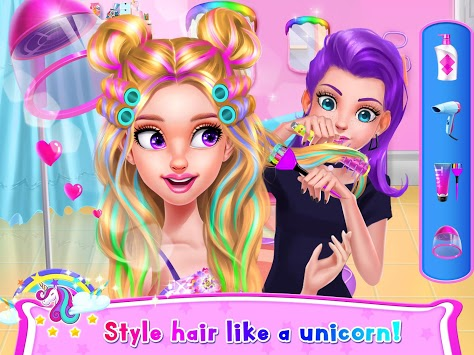 Rainbow Unicorn Hair Salon pc screenshot 1