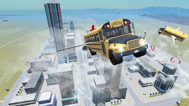 Flying Bus Driving simulator 2019: Free Bus Games pc screenshot 1