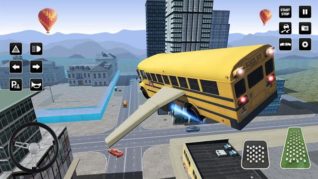 Flying Bus Driving simulator 2019: Free Bus Games pc screenshot 2