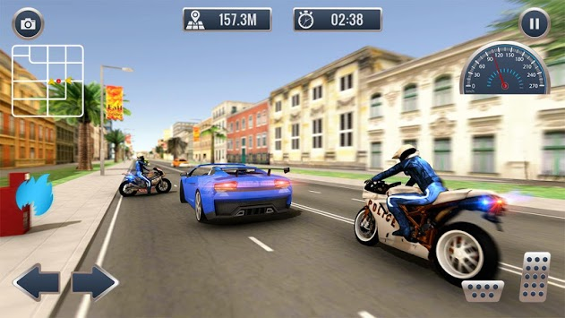 Crime Cop Bike Police Chase pc screenshot 1