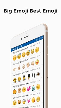 Big Emoji Stickers For Whatsapp pc screenshot 1