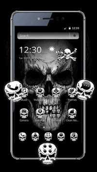Black Death Skull Theme pc screenshot 1