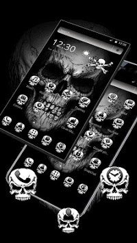 Black Death Skull Theme pc screenshot 2