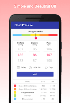 Blood Pressure Log (No Ads) pc screenshot 1