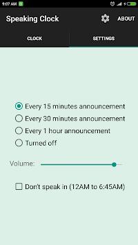 সময় বলা ঘড়ি Bangla Talking Clock (Ad free) pc screenshot 2