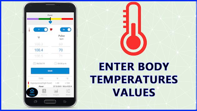 Body Temperature Check Diary : Info History Log pc screenshot 2