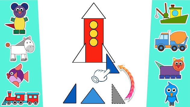 Learn shapes and colors for toddlers kids pc screenshot 2
