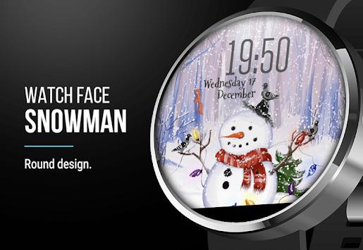 Snowman ⛄ Free Watch Face pc screenshot 1