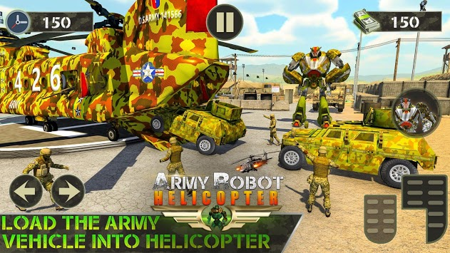 US Army Robot Transport- Army Tank Truck Transport pc screenshot 2