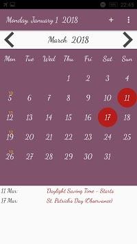 US Calendar with Holidays 2019 pc screenshot 1