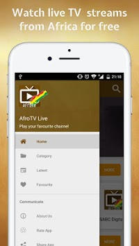 AfroTV Live - Watch All African TV Stations pc screenshot 1