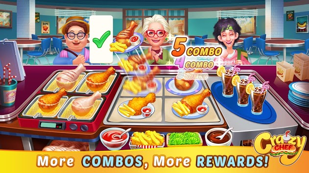 Crazy Chef: Fast Restaurant Cooking Game pc screenshot 1