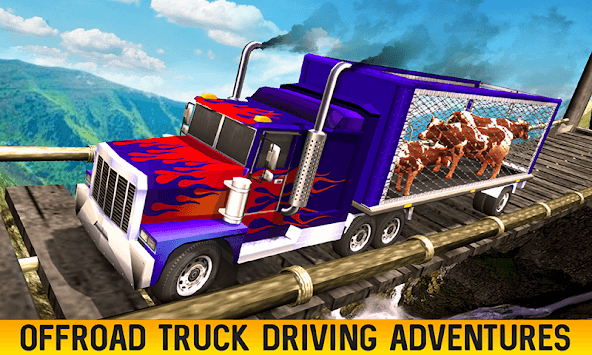 Farm Animal Transport Truck Driving Games: Offroad pc screenshot 1