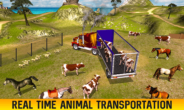 Farm Animal Transport Truck Driving Games: Offroad pc screenshot 2