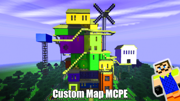 Map Of Hi Neighbor For MCPE Guides pc screenshot 1