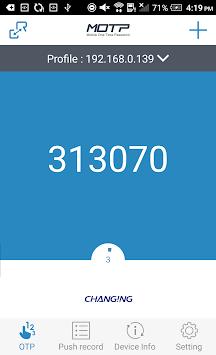 MOTP Client pc screenshot 1