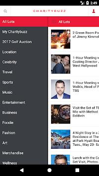 Charitybuzz pc screenshot 2