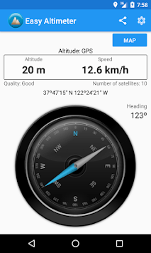 Easy Altimeter and Compass pc screenshot 1