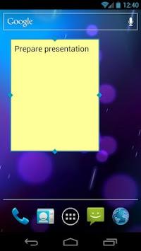 Simple Sticky Note Widget pc screenshot 2