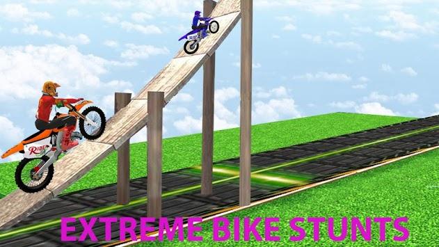 Motorcycle Stunts Game:Sky Runner Bike Stunts pc screenshot 1