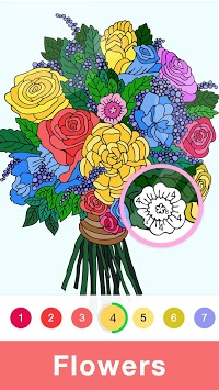 Fun Coloring - Color By Number Paint Happy & Relax pc screenshot 1